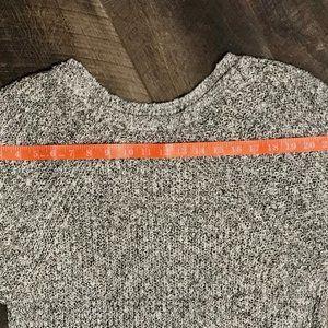 Free People Sweaters - Free People Black/White Marled crewneck sweater L